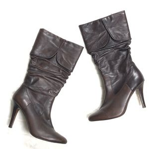 Aldo Brown Leather Boots, 39.